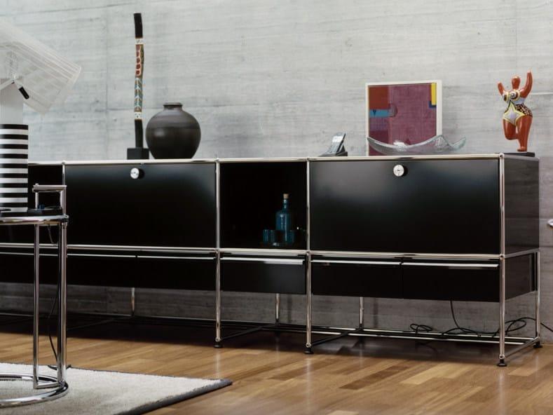 Modular lacquered metal sideboard USM HALLER CREDENZA FOR LIVING ROOM | Modular sideboard by USM