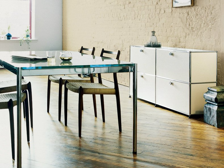 usm haller credenza for living room modulares sideboard by usm design fritz haller. Black Bedroom Furniture Sets. Home Design Ideas
