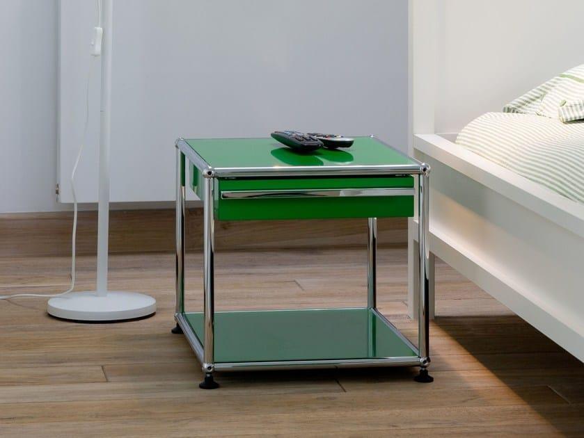 usm haller nightstand nachttisch by usm design fritz haller. Black Bedroom Furniture Sets. Home Design Ideas
