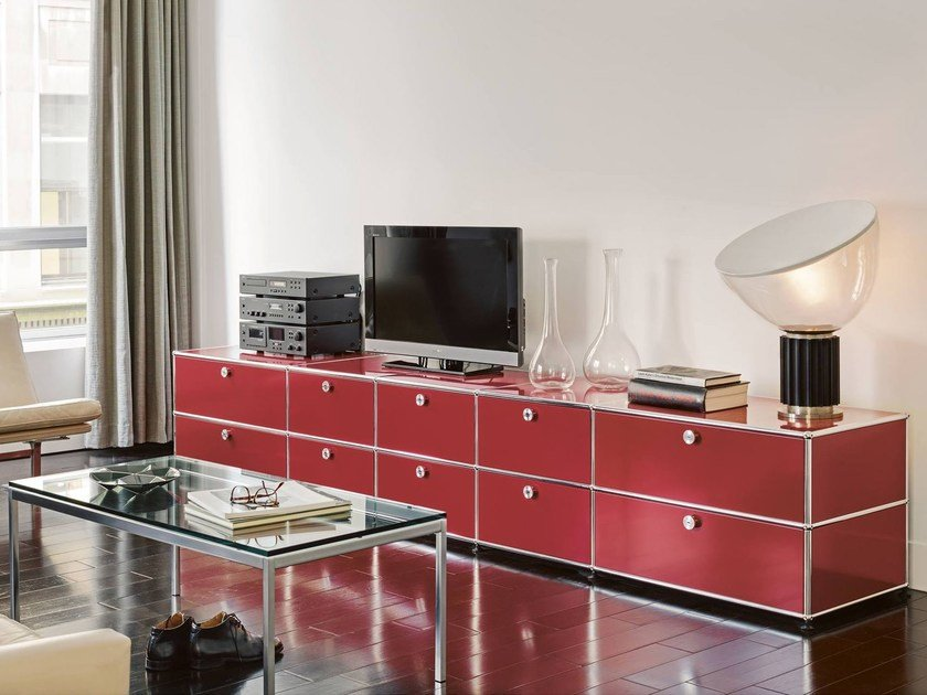 usm haller sideboard modular tv cabinet by usm design fritz haller. Black Bedroom Furniture Sets. Home Design Ideas