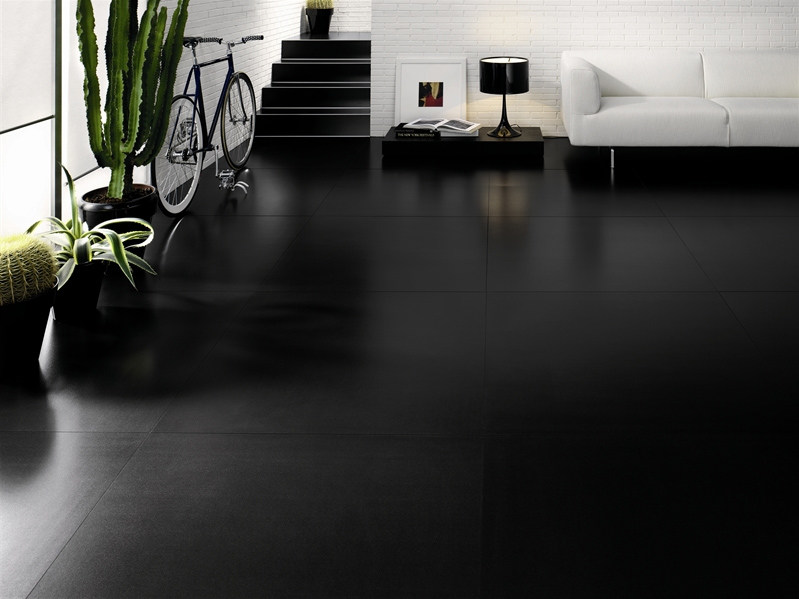 Ultra thin laminated stoneware wall/floor tiles BLACK-WHITE by COTTO D'ESTE