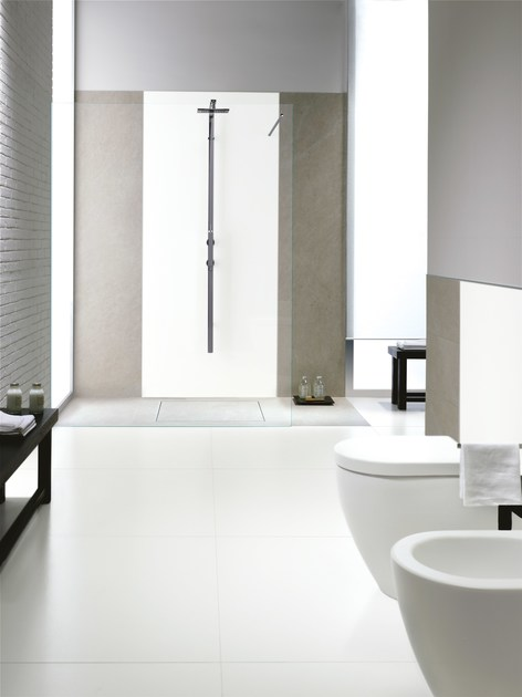Pavimento rivestimento ultrasottile in gres laminato black - Pavimento laminato in bagno ...