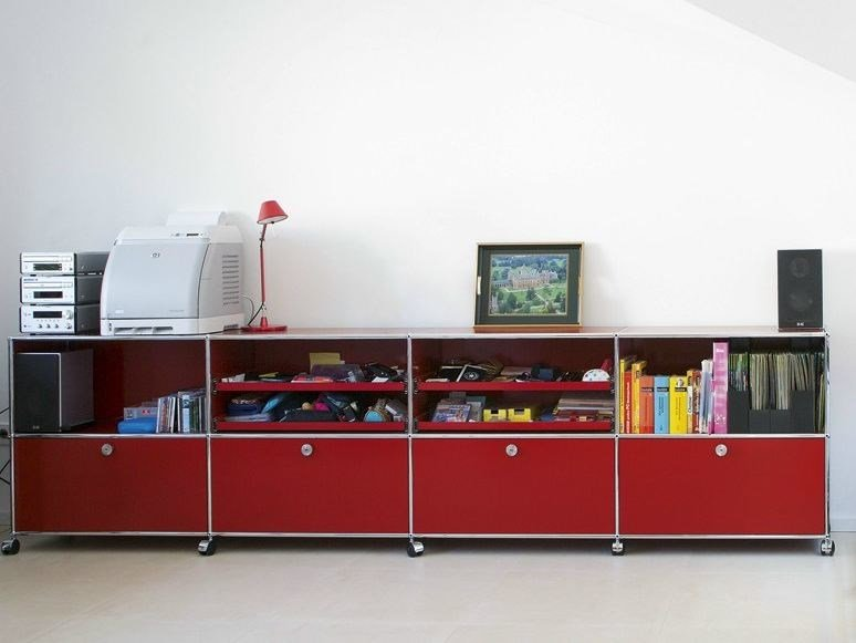 Sectional metal storage unit USM Haller Storage for Kid's Room by USM