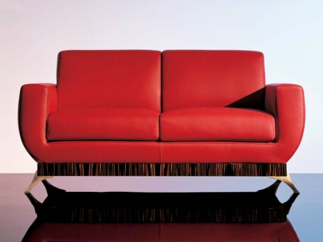 2 seater leather sofa SC1010/2p by OAK