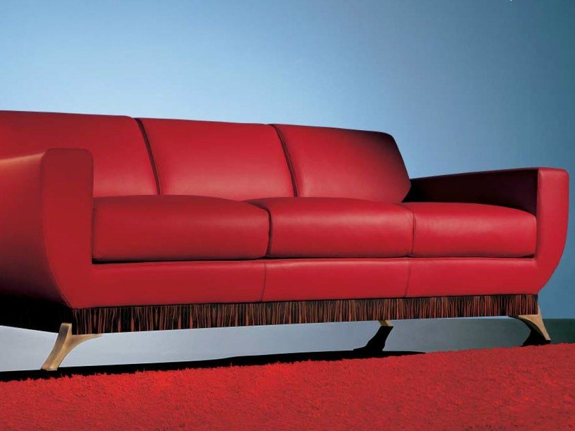 3 seater leather sofa SC1010/3p by OAK