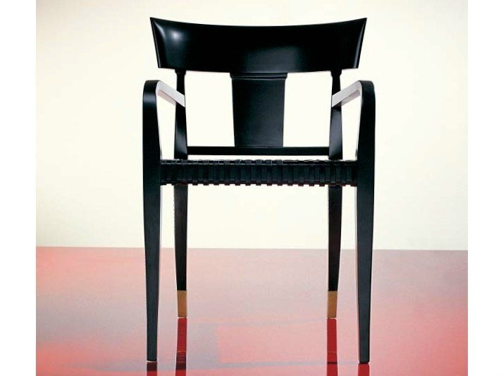 Wooden chair with armrests SC1020/a by OAK