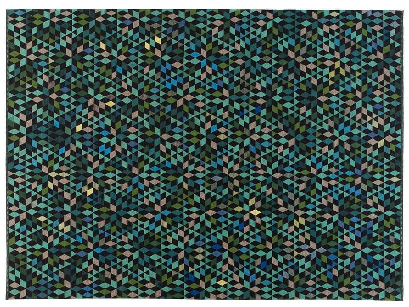 Rectangular rug with geometric shapes DIAMOND APPLEGREEN by Golran