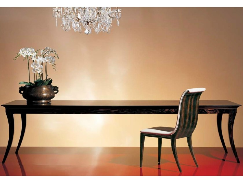 Rectangular wood-bronze table SC1021 by OAK