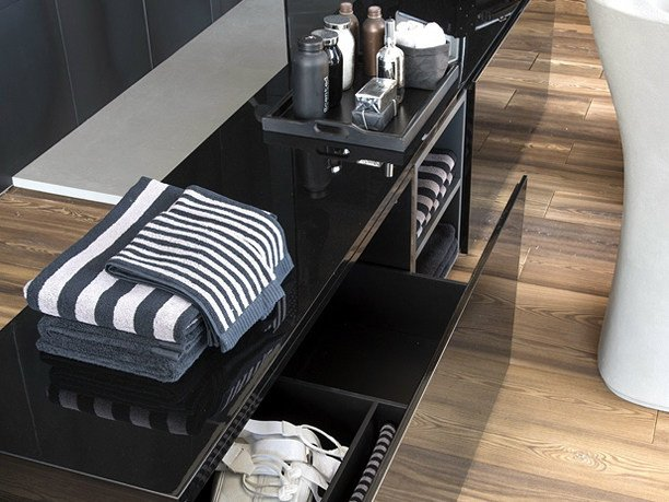 Cassettiera a terra per bagno atelier via veneto falper