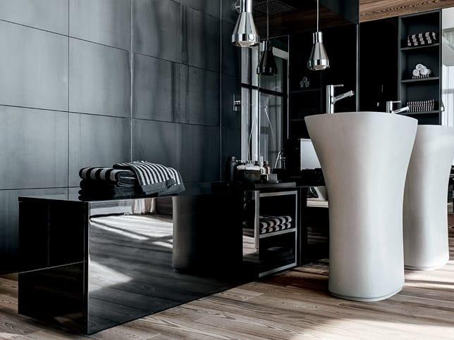 Low bathroom chest of drawers ATELIER VIA VENETO by FALPER