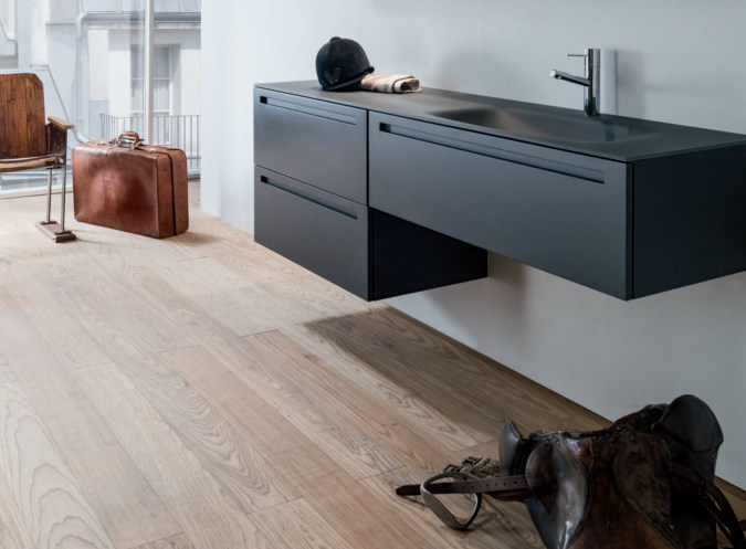 Wall-mounted wooden vanity unit with drawers VIA VENETO   Vanity unit with drawers by FALPER