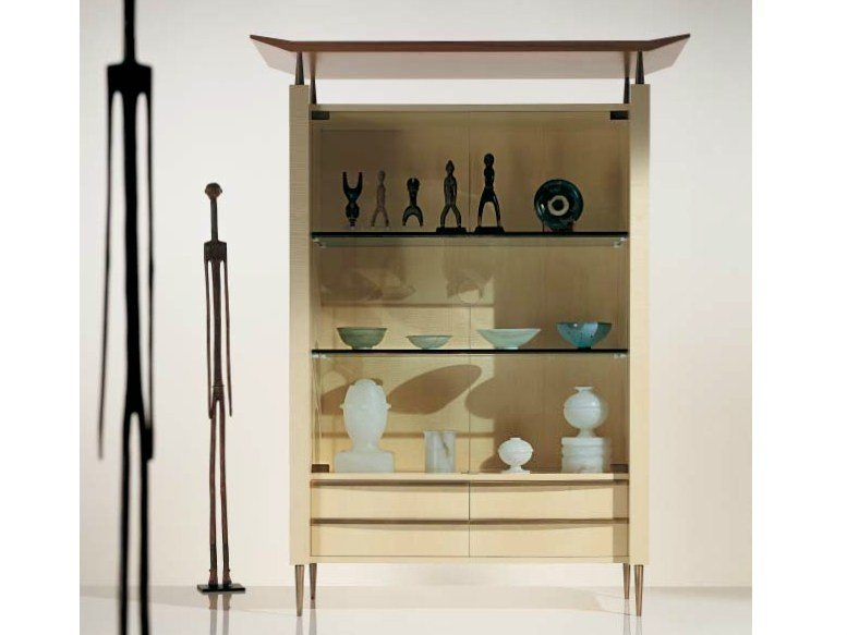 Wood and glass display cabinet SC1025 by OAK