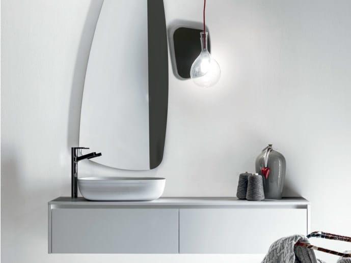 Wall-mounted wooden vanity unit VIA VENETO | Vanity unit by FALPER