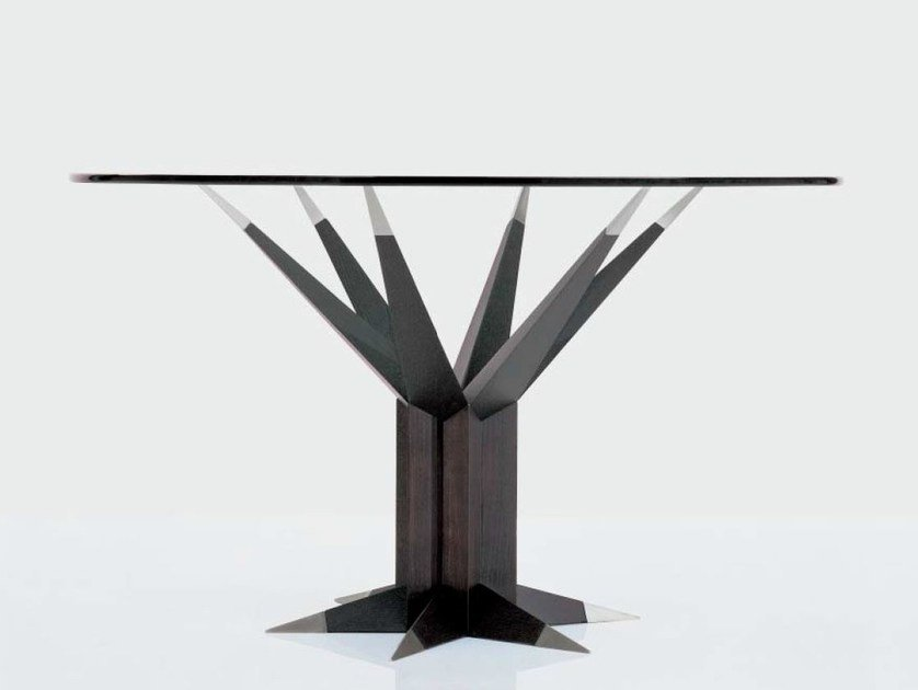 Wood and glass meeting table ENERGIA by OAK