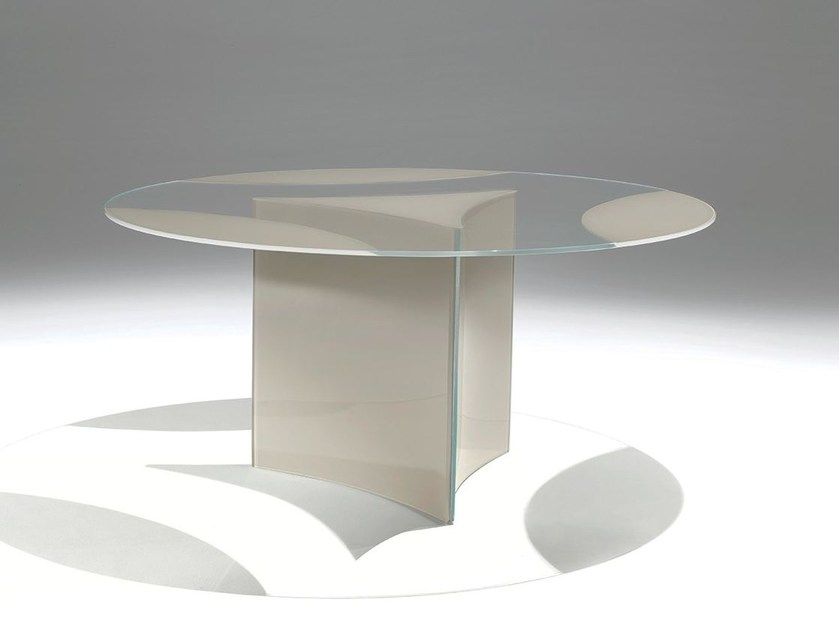 Round crystal table DIONISO by Casali