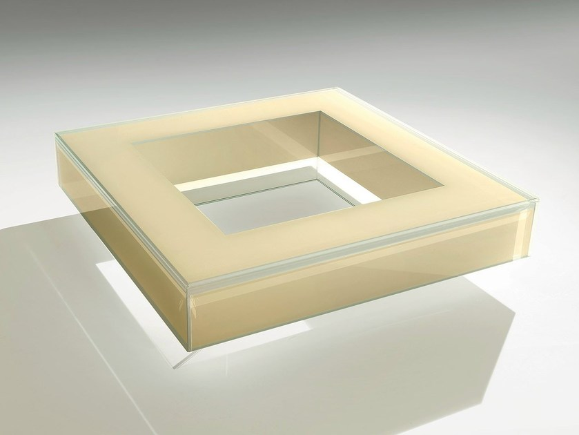Low square crystal coffee table KITE SMALL by Casali