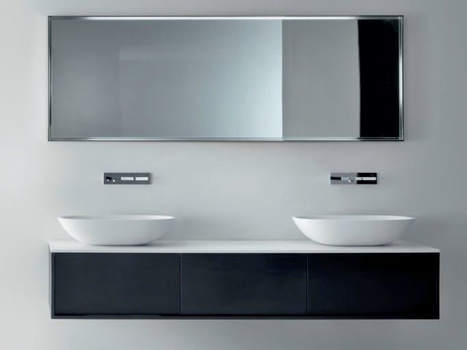 Wall-mounted ebony vanity unit with drawers SHAPE   Ebony vanity unit by FALPER