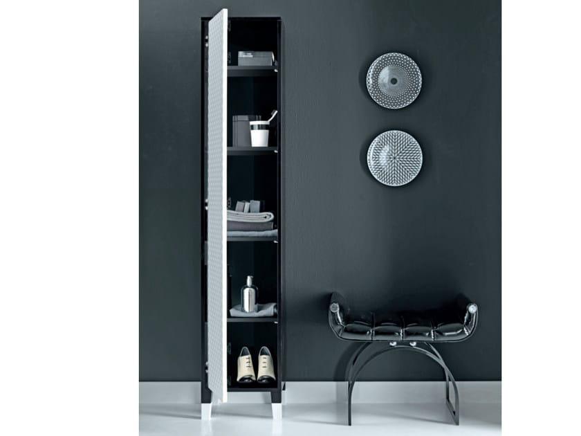 Tall wooden bathroom cabinet COCO | Tall bathroom cabinet by FALPER