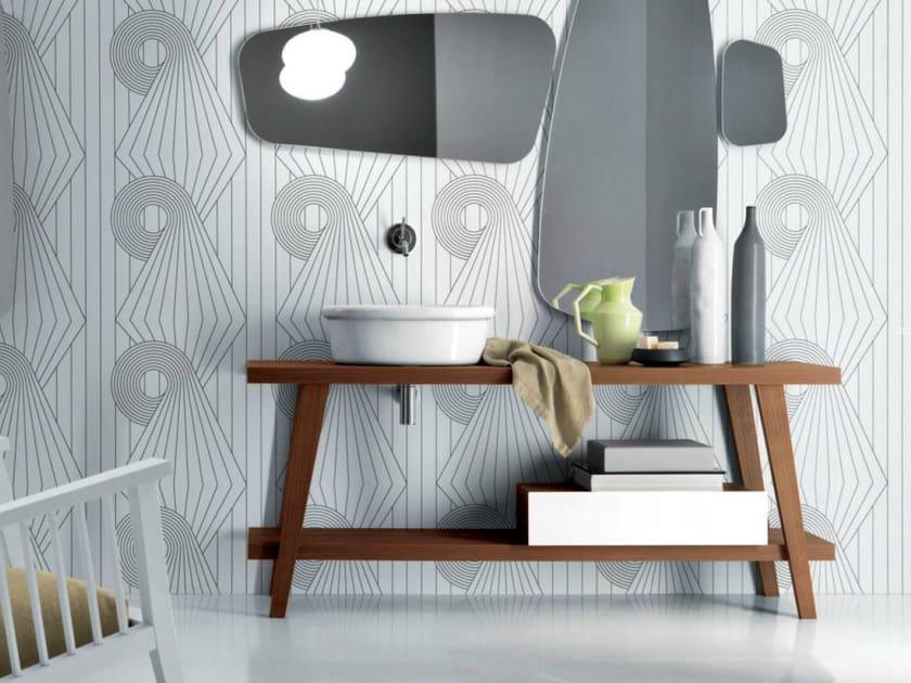 Wooden console sink MENHIR | Wooden console sink by FALPER
