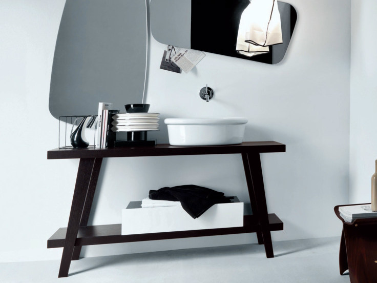 Wooden console sink MENHIR | Lacquered console sink by FALPER