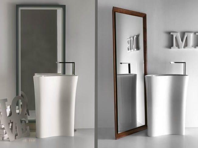 Freestanding framed mirror for bathroom Freestanding mirror by FALPER