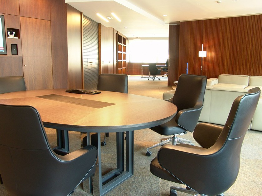 Oval wooden meeting table MARCUS | Oval meeting table by JOSE MARTINEZ MEDINA