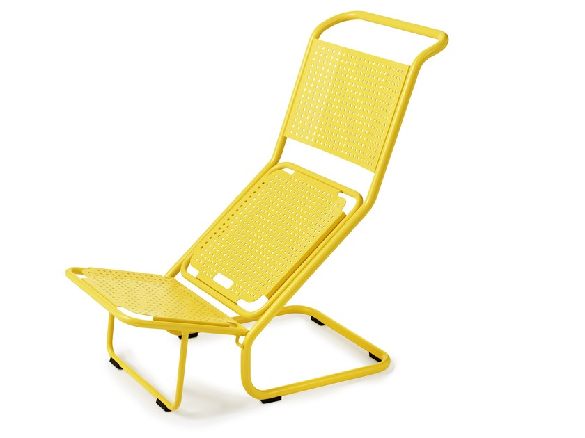 Steel chair / deck chair TWO IN ONE CHAIR by Nola Industrier