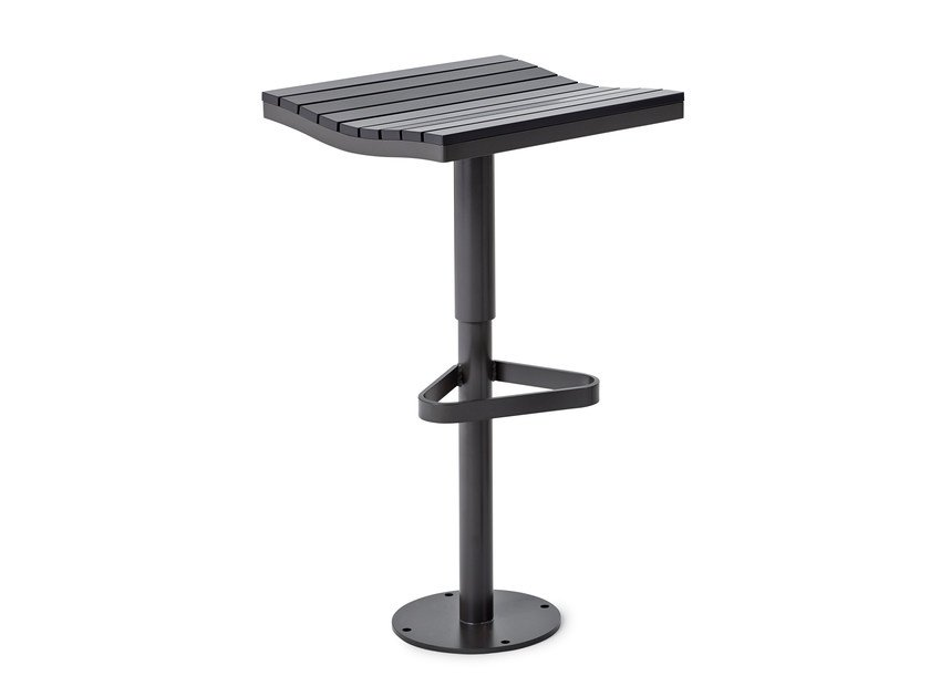 High stool with footrest PARCO   High stool by Nola Industrier