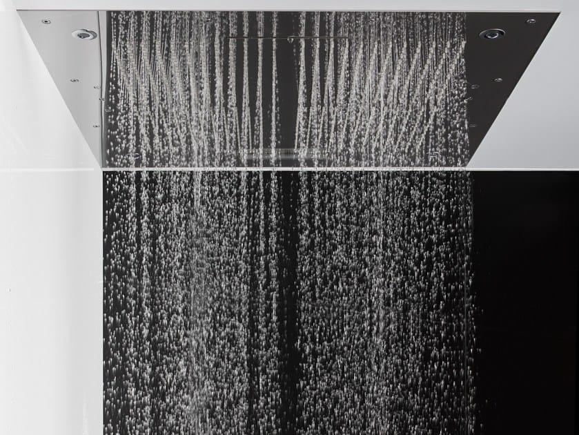 Chromed brass rain shower for chromotherapy HARMONIA | Rain shower by FIMA Carlo Frattini
