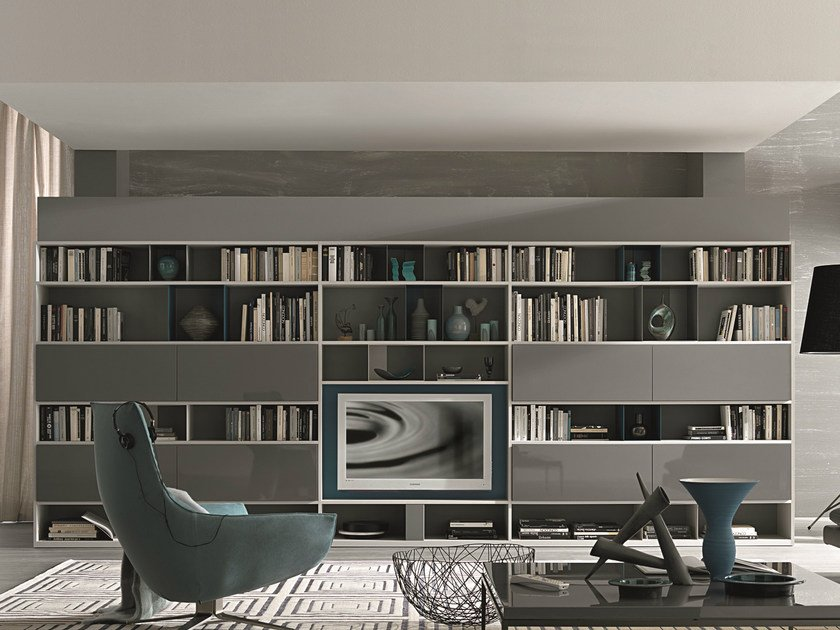 Sectional lacquered storage wall URBAN | Storage wall by MisuraEmme