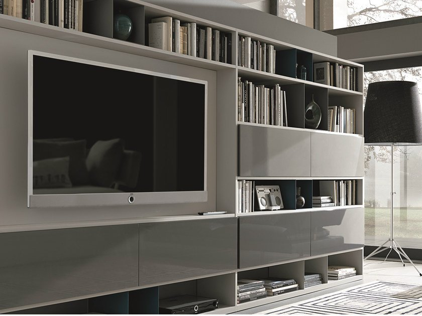 Sectional lacquered storage wall URBAN | Sectional storage wall by MisuraEmme