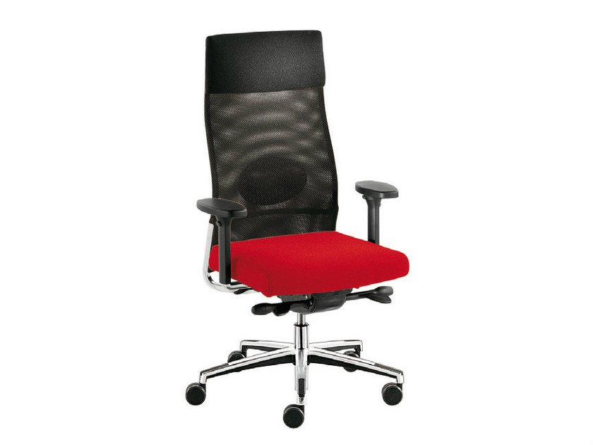 Executive chair with headrest WIN-R RETE | Executive chair by Sesta