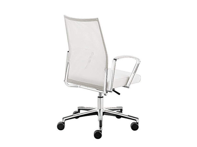 Mesh task chair with 5-Spoke base with armrests WIN-R RETE | Task chair with armrests by Sesta
