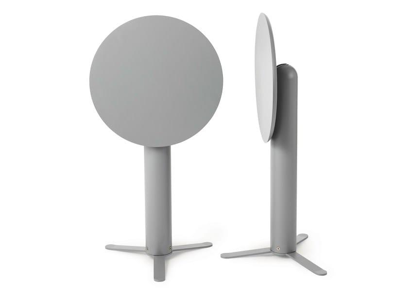 Folding aluminium high table TILT by Nola Industrier