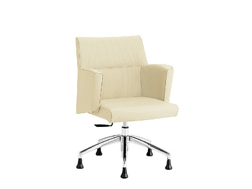 Leather easy chair with armrests ADA 1 PLUS | Easy chair by Sesta