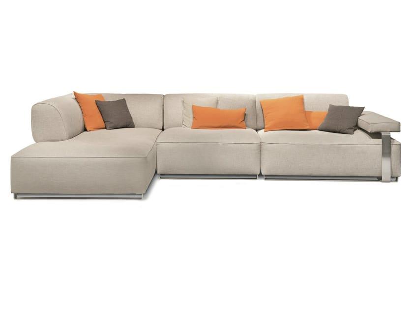 Corner sectional fabric sofa CANNES | Corner sofa by MisuraEmme