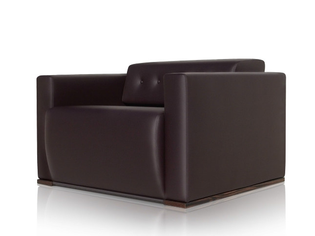 Leather armchair with armrests WILLIAMS | Armchair by JOSE MARTINEZ MEDINA