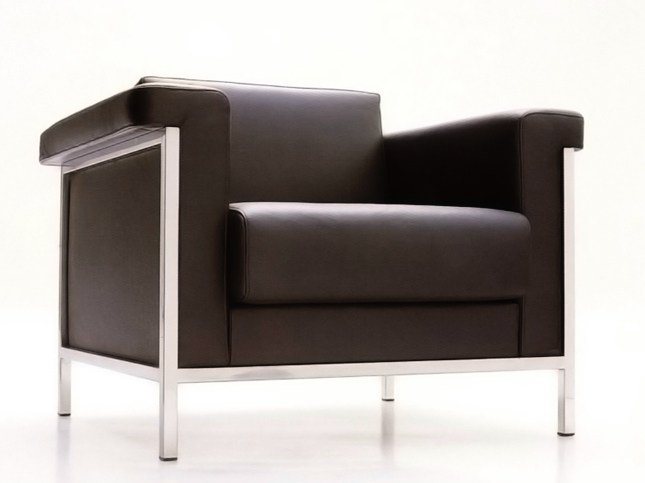 Leather armchair with armrests MASTER   Armchair by JOSE MARTINEZ MEDINA
