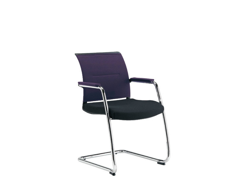 Cantilever visitor's chair SAX AIR | Visitor's chair by Sesta