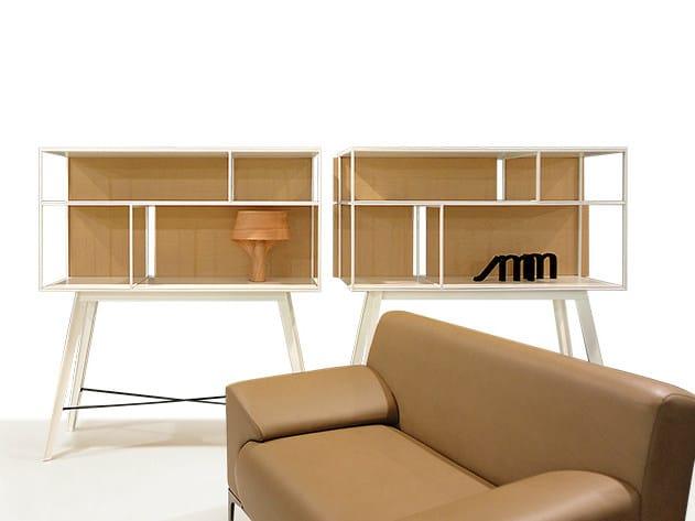 Open freestanding shelving unit COLECCIÓN PRIVADA | Freestanding shelving unit by JOSE MARTINEZ MEDINA