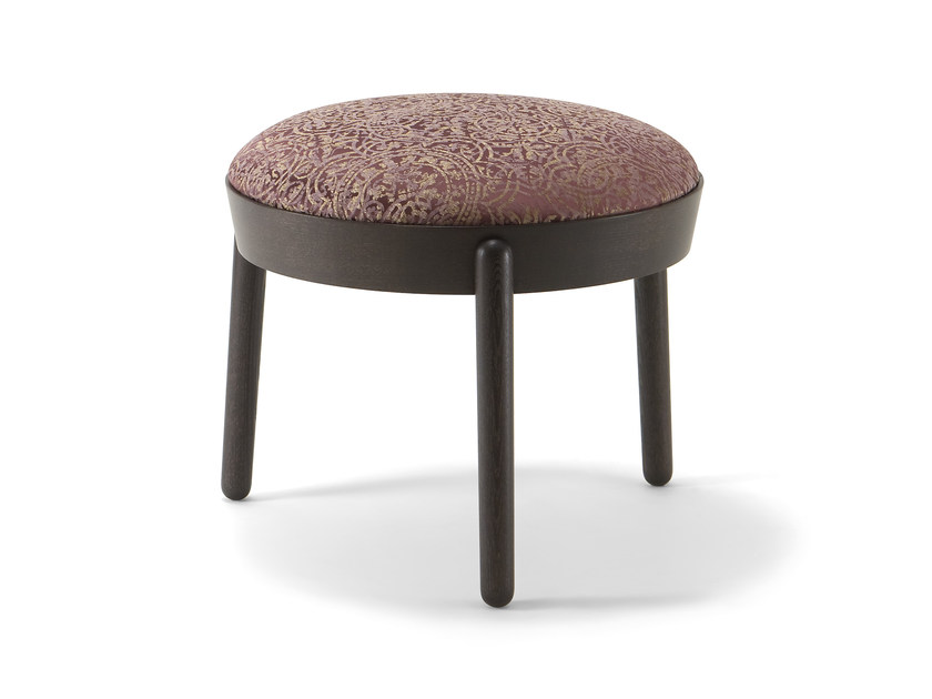 Contemporary style low upholstered wooden stool COCOON | Stool by Cizeta L'Abbate