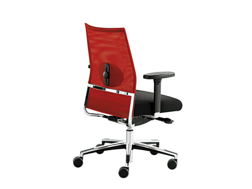 Mesh task chair with armrests WIN-R RETE   Task chair with armrests by Sesta