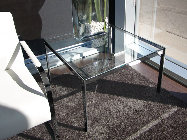 Square glass side table ALIANTE | Side table by JOSE MARTINEZ MEDINA
