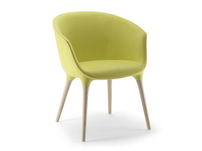 Fabric easy chair with armrests SPRING | Easy chair by Cizeta L'Abbate