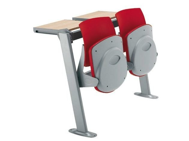 Study table with integrated chairs Q-44 BANCO by Sesta