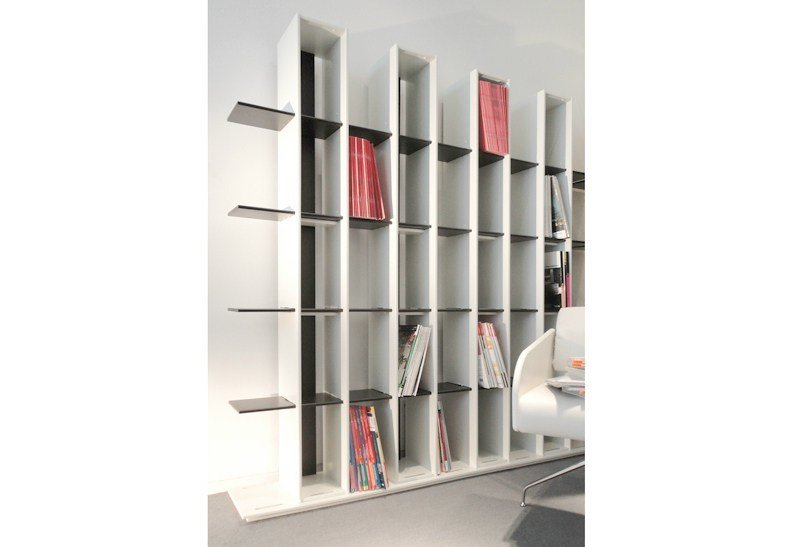 Open freestanding shelving unit CULTURE BOX by JOSE MARTINEZ MEDINA