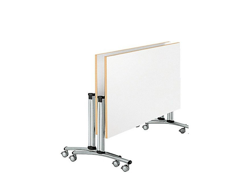 Folding meeting table with casters GO MEET | Meeting table by Sesta
