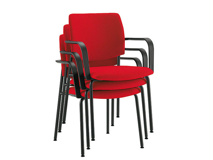 Stackable waiting room chair with Armrests Q-44 | Stackable waiting room chair by Sesta