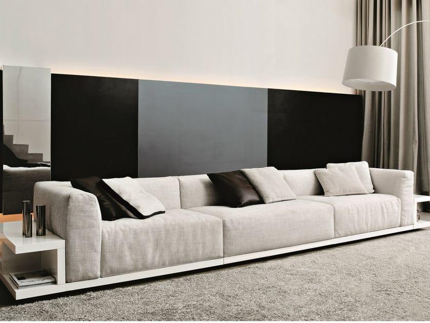 Fabric sofa with integrated magazine rack SITIN | Fabric sofa by MisuraEmme