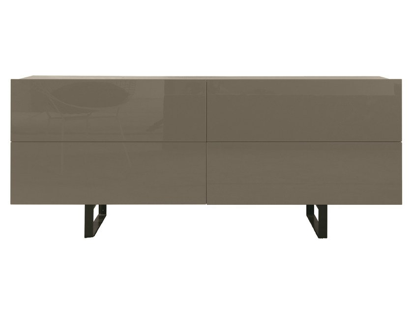 Lacquered wooden sideboard with drawers SQUARE | Sideboard with drawers by MisuraEmme